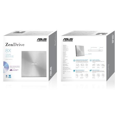 Външно USB DVD записващо устройство ASUS ZenDrive U7M Ultra-slim, USB 2.0, сив