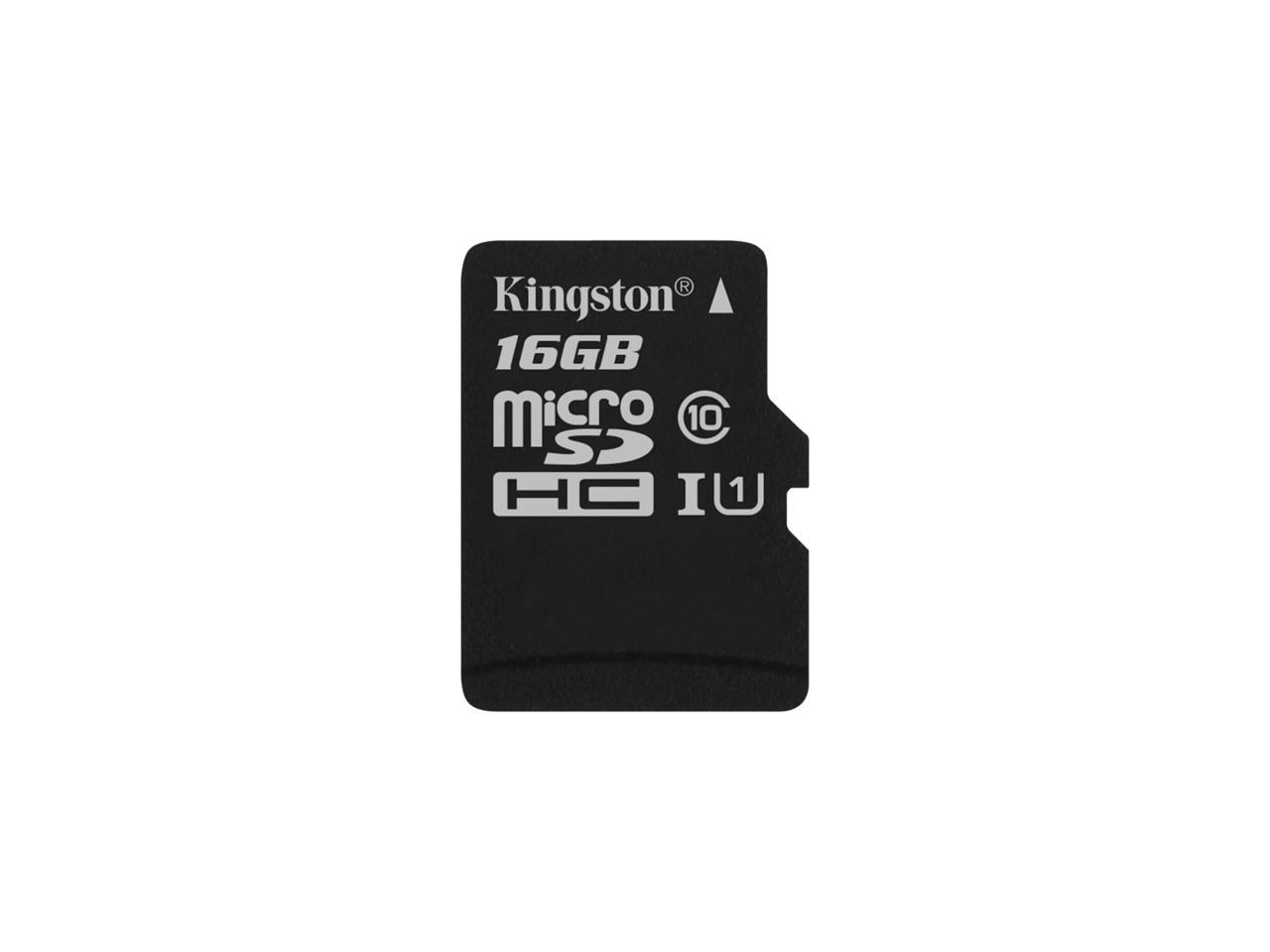 Карта памет Kingston micro SDHC UHS-I, 16GB, Class 10