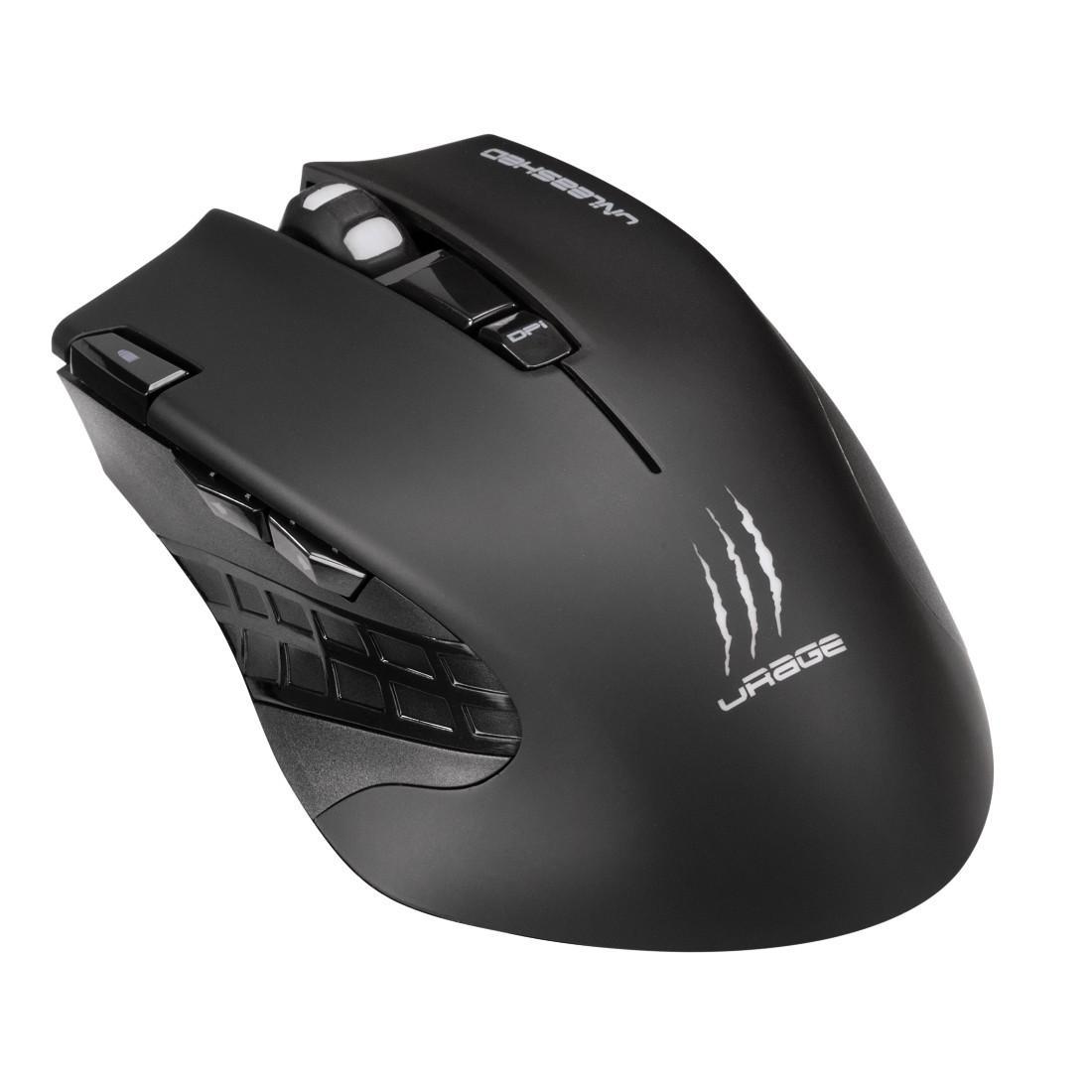 Геймърска мишка Hama, Urage Unleashed, Оптична, Безжична, USB