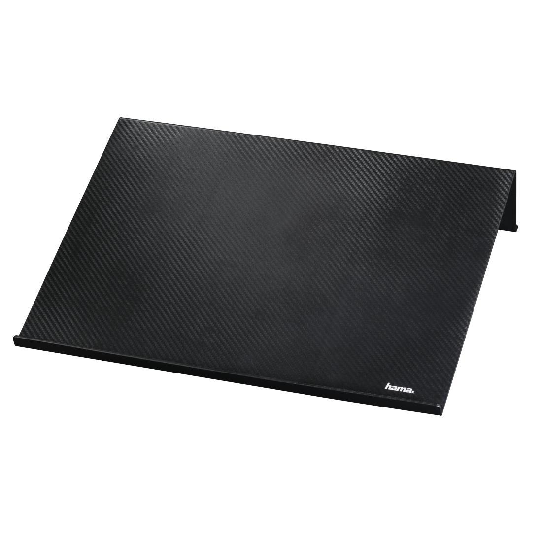 """Поставка за преносим компютър Hama carbon look, 18,4"""", черен"""