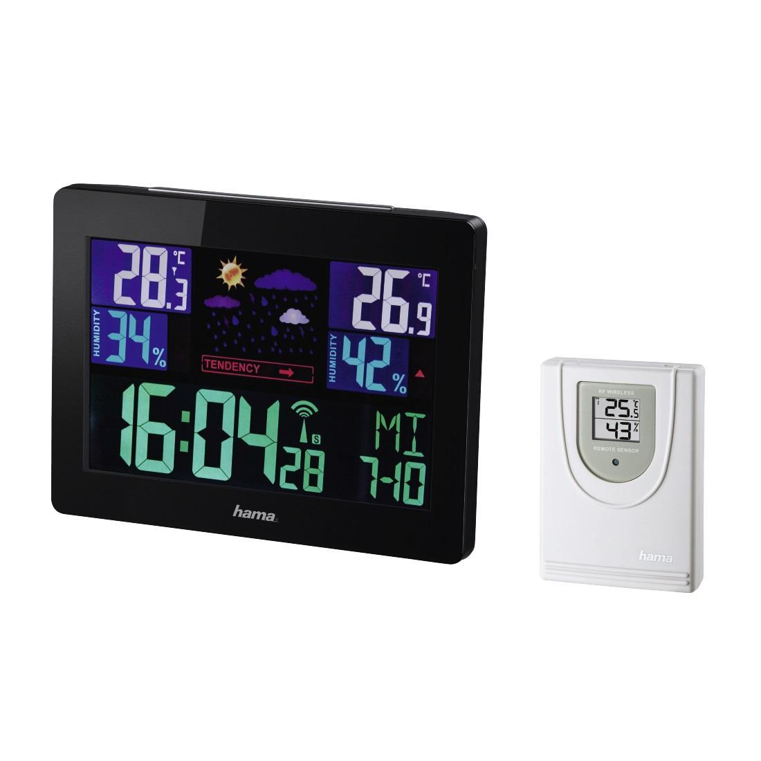 Електронна метеостанция HAMA EWS-1400, черен