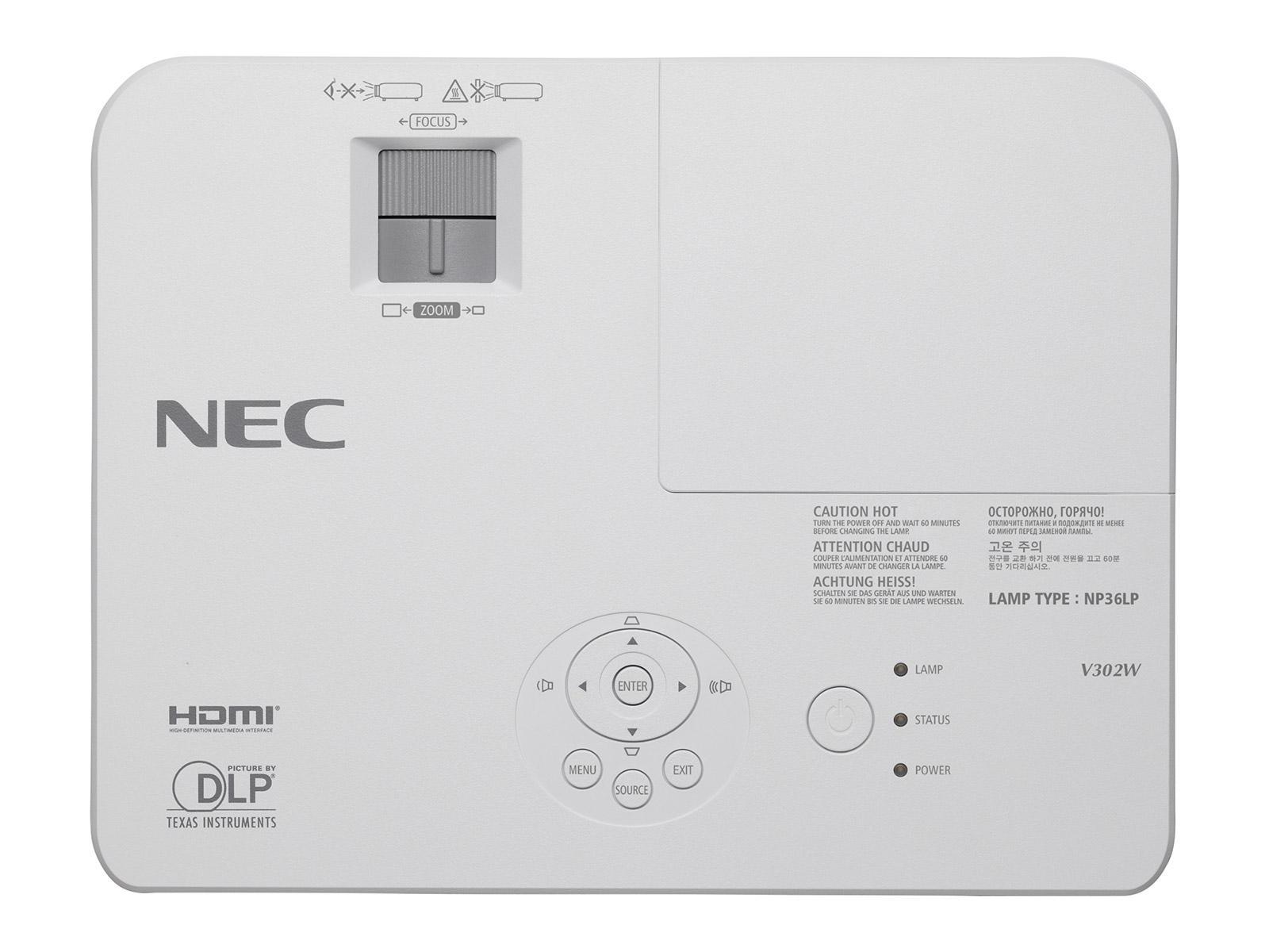 Видеопроектор NEC V302X, XGA 1024 x 768, 3000 ANSI, 3D Ready, DLP