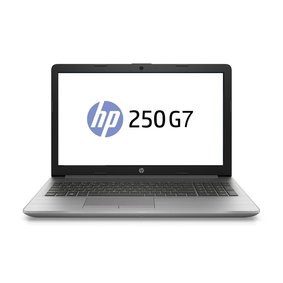 "Лаптоп HP 250 G7, Intel Core i3-8130U, 8GB DDR4, 256GB M.2 NVMe SSD, FHD 15.6"", DVD-RW, Сребрист"