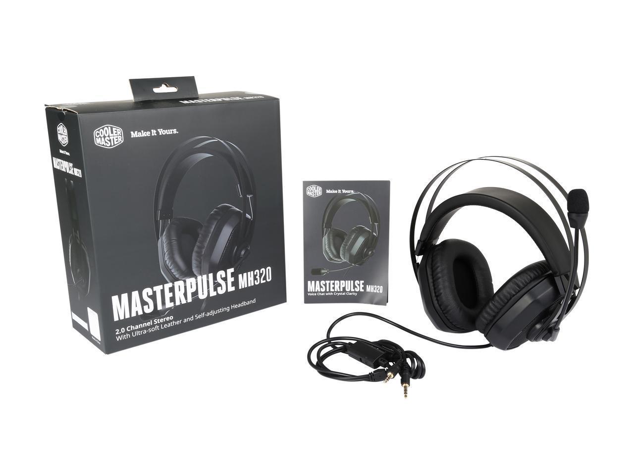 Геймърски слушалки Cooler Master MasterPulse MH320, Микрофон, Черно/Сиво