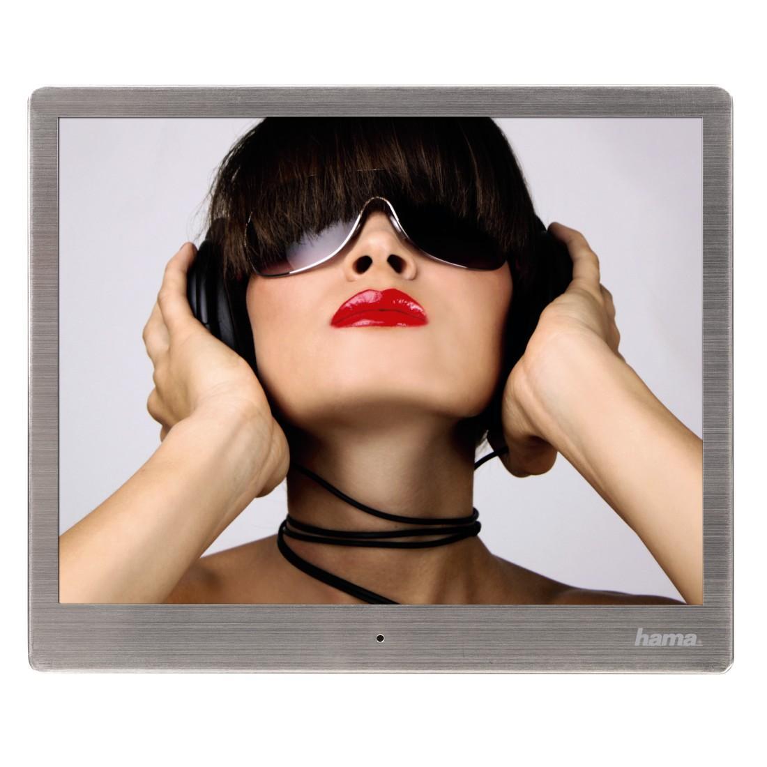 """Цифрова фото рамка HAMA 97SLB 118561, 9.7"""", Slim Steel, алуминиева рамка"""
