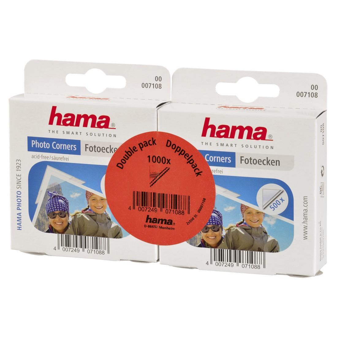 Самозалепващи ъгълчета за снимки HAMA 07108, 2 x 500 броя, 2 пакета