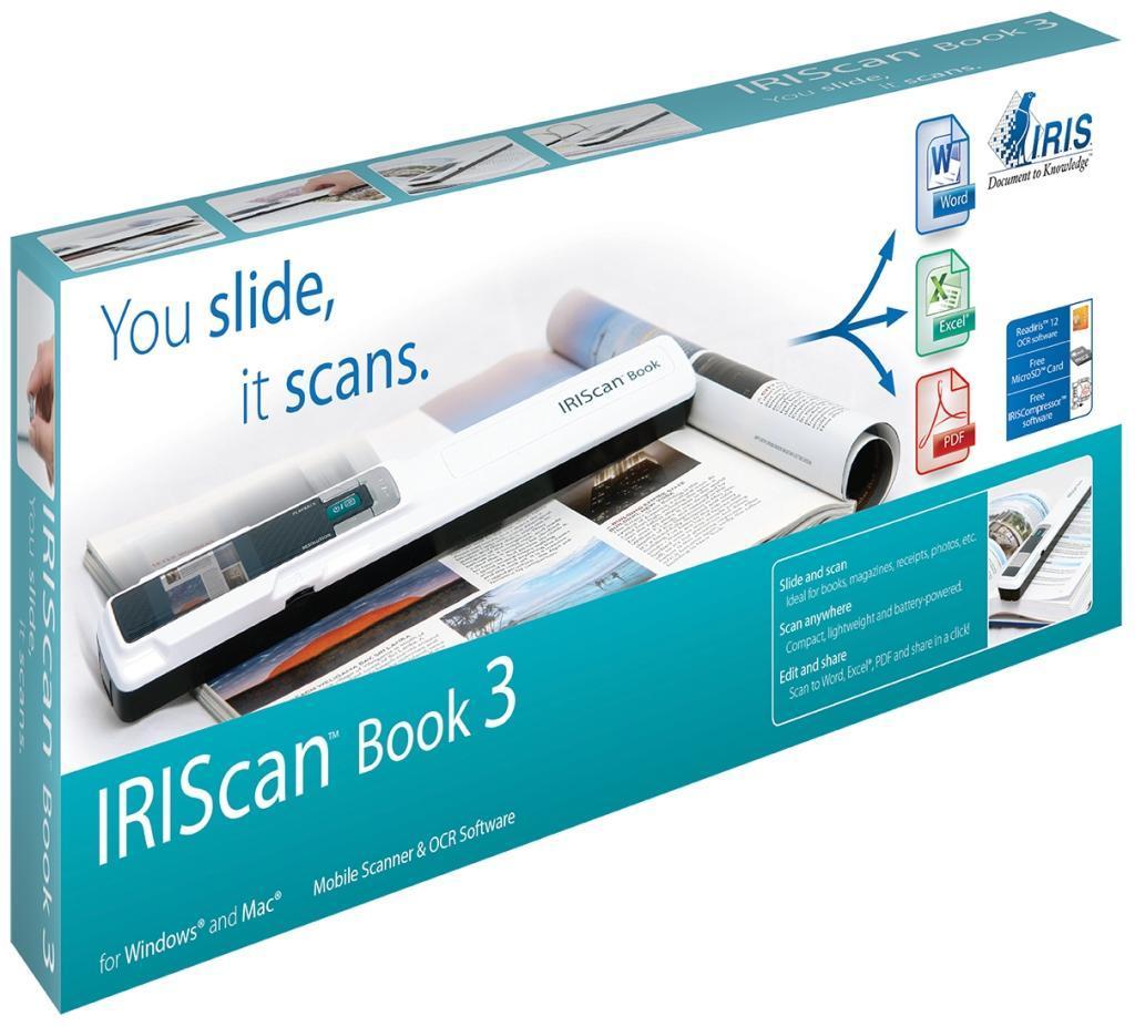 Скенер iris IRIScan Book 3, A4, USB