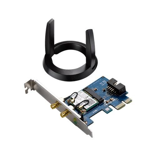 Безжичен PCI Express адаптер ASUS PCE-AC55BT, Wireless 802.11ac 2*2 Dual-band, Bluetooth 4.0