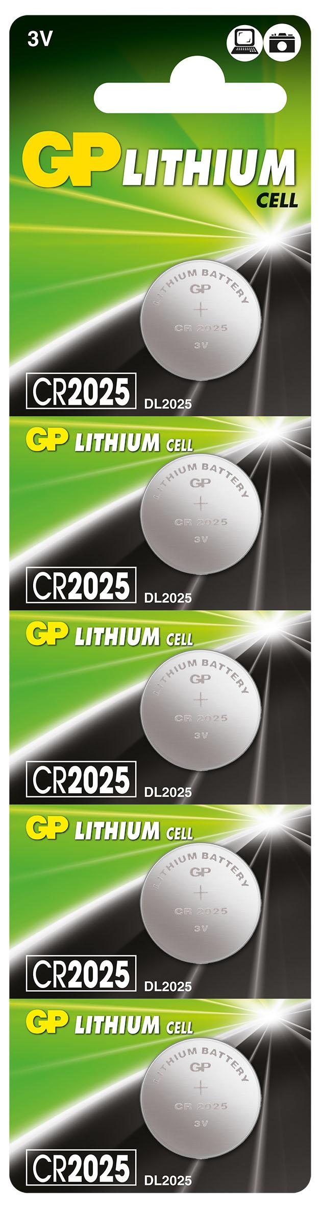 Литиева бутонна батерия GP CR-2025 3 V 1бр. /5pk